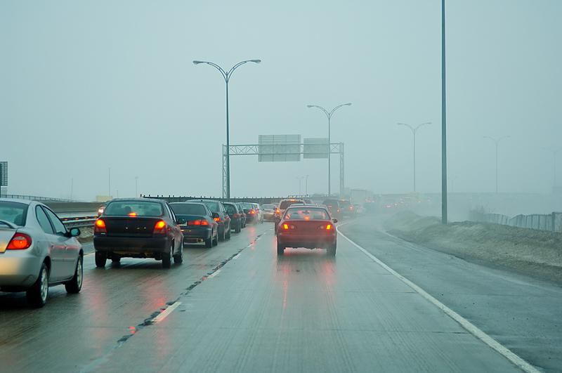 cars rain
