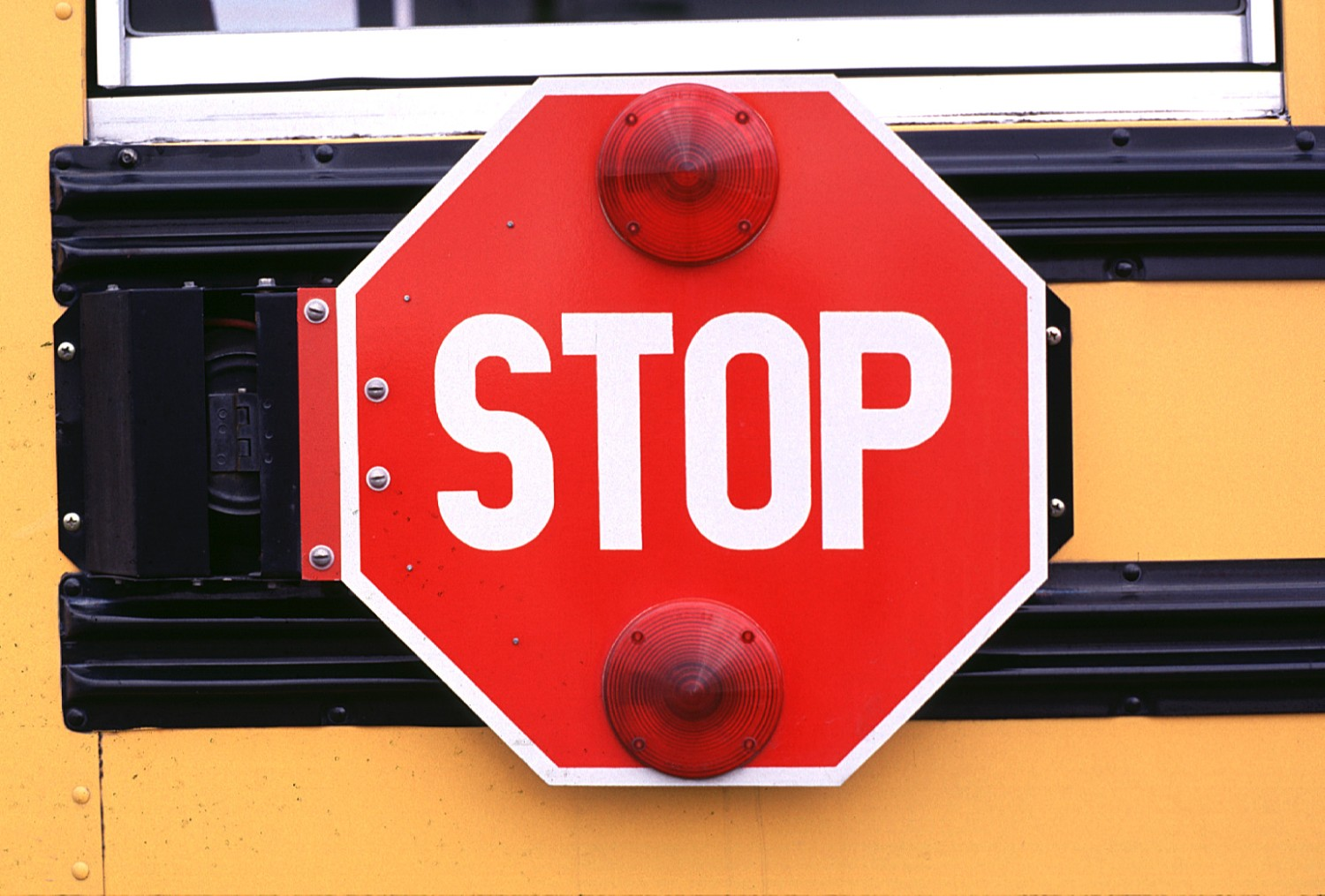school bus stop sign