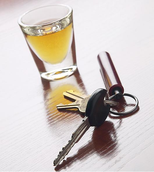 alcohol and keys
