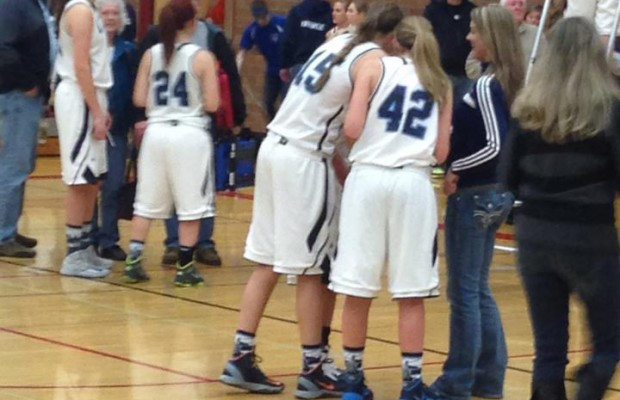 Lynden Christian vs Cascade Christian Girls Basketball 1st half 2/22/14