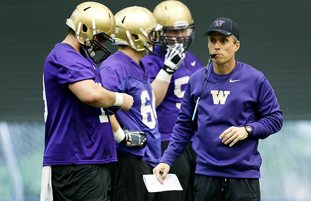 Petersen ready for 1st fall camp at Washington