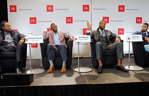 NFL players talk about race with Harvard students
