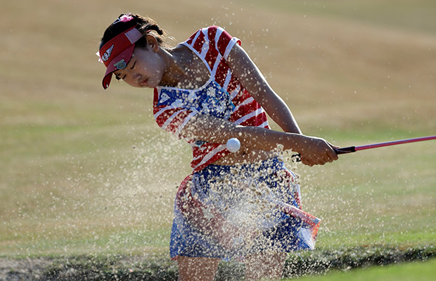 Lewis takes early lead at Pinehurst with a 67 as Eleven-year-old Lucy Li steals show
