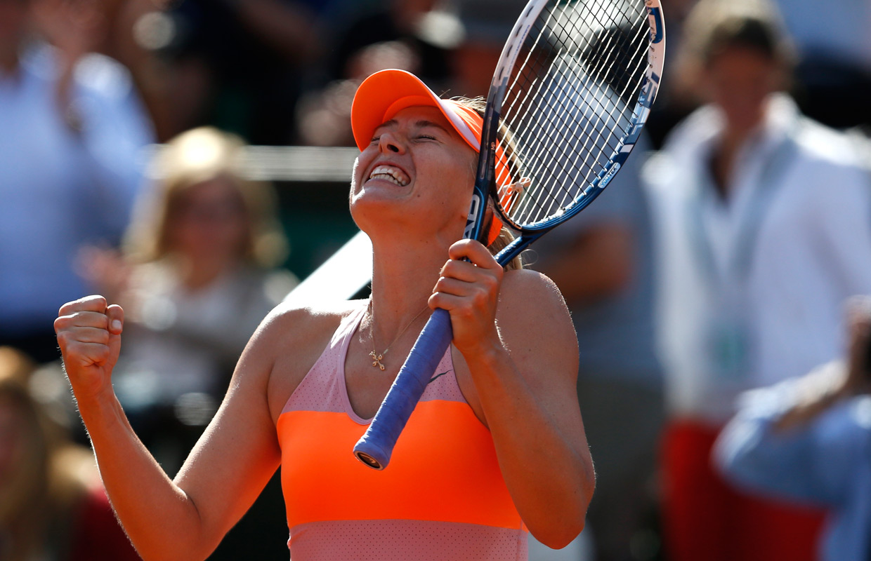 Sharapova wins French Open for 2nd time