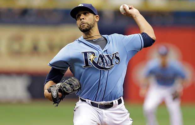 Tampa Bay Rays starting pitcher David Price delivers to the Pittsburgh Pirates during the first inning of an interleague baseball game Wednesday, June 25, 2014, in St. Petersburg, Fla.