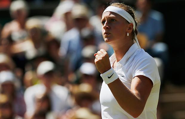 Kvitova overpowers Bouchard to win 2nd Wimbledon