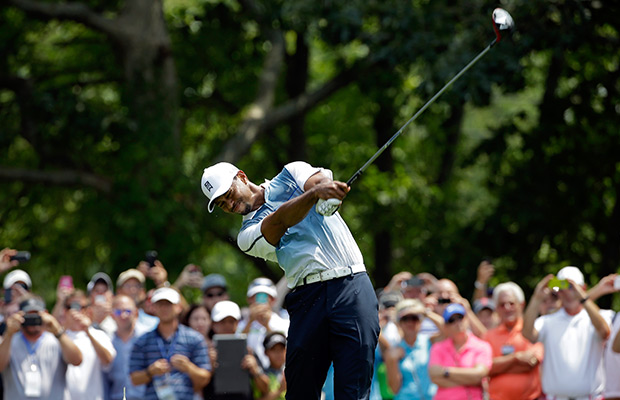 Woods ready to tee it up in the PGA Championship