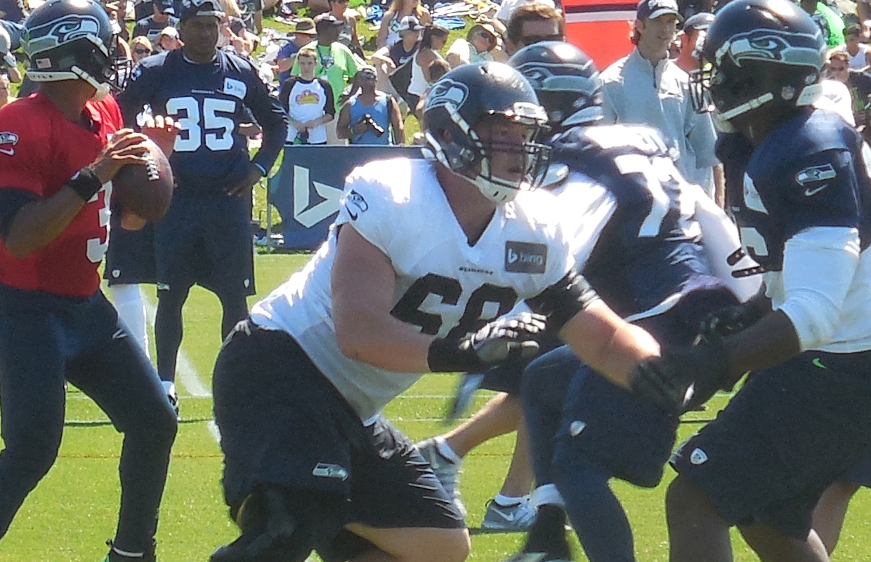 Right tackle battle wide open as Lynch hits the practice field