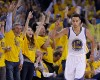 The crowd cheers after Golden State Warriors guard Stephen Curry (30) scored during the first half of Game 2 in a second-round NBA playoff basketball series against the Memphis Grizzlies, Tuesday, May 5, 2015, in Oakland, Calif.