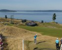 Jason Day plays his shot on the 15th tee during a practice round for the 2015 U.S. Open at Chambers Bay in University Place, Wash. on Monday, June 15, 2015.