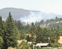 View of a fire east of Lake Whatcom Sunday, July 7th