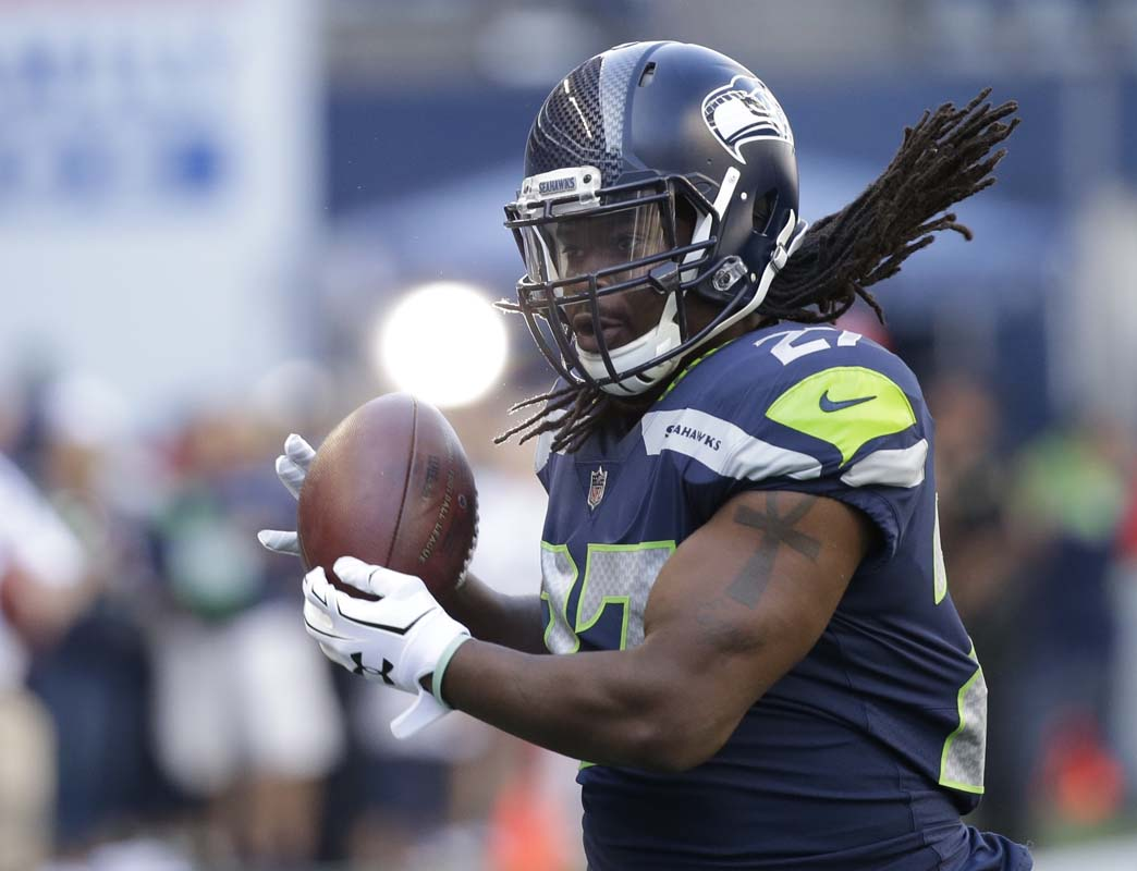 Seahawks rookie running back Chris Carson likely earns himself a bigger role