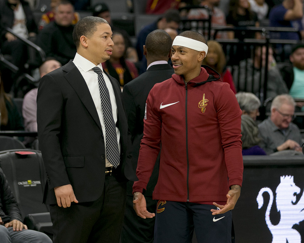 LeBron strategizing Isaiah Thomas' return with video game